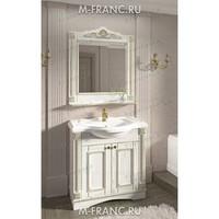 Комплект мебели Венеция Аврора 105 цвет: белый с патиной золото