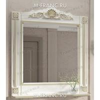 Зеркало Венеция Аврора 105 цвет: белый с патиной золото