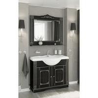 Комплект мебели Венеция Аврора 105 цвет: черный с патиной серебро