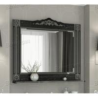 Зеркало Венеция Аврора 105 цвет: черный с патиной серебро