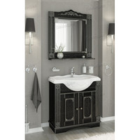 Комплект мебели Венеция Аврора 85 цвет: черный с патиной серебро