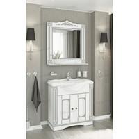 Комплект мебели Венеция Аврора 85 цвет: белый с патиной серебро