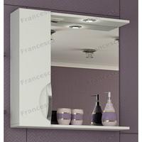 Шкаф-зеркало Francesca Доминго 75 С белый