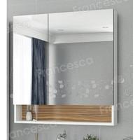 Шкаф-зеркало Francesca Doremi 80, белый/ясень