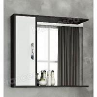 Шкаф-зеркало Francesca Eco Max 80 белый-венге