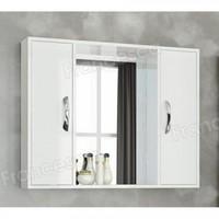 Шкаф-зеркало Francesca Eco Max 90 белый
