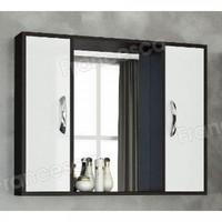 Шкаф-зеркало Francesca Eco Max 90 белый-венге
