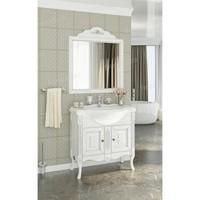 Комплект мебели Francesca Леонардо 85 белый, патина серебро
