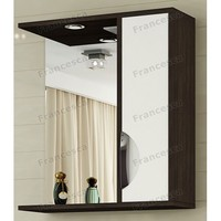 Шкаф-зеркало Francesca Версаль 55 С белый/венге