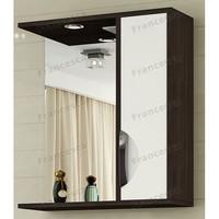 Шкаф-зеркало Francesca Версаль 60 С белый/венге