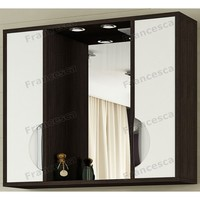 Шкаф-зеркало Francesca Версаль 80 С белый/венге 2 шкафа