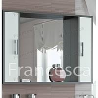 Шкаф-зеркало Francesca Eco 105 белый-венге