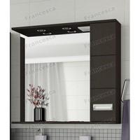 Зеркало-шкаф Francesca Кубо 80 2С венге