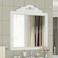 Зеркало Francesca Леонардо 85 белый, патина серебро