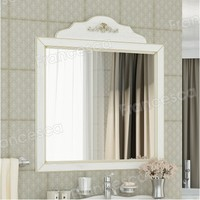 Зеркало Francesca Леонардо 85 белый, патина золото
